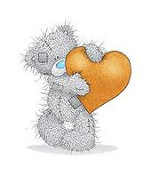 Мишка Тедди с оранжевым сердцем