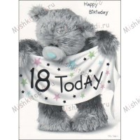 18th Birthday Banner Me to You Bear Card
