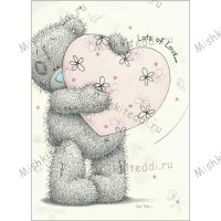 Tatty Holding Heart Me to You Bear Card