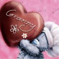 Granny Chocolate Heart Mothers Day Me to You Bear Card