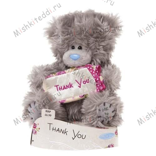 Мишка Тедди Me to You 10 см с надписью Thank You - Thank You Banner Me to You Bear G01W1587 121 Thank You Banner Me to You Bear