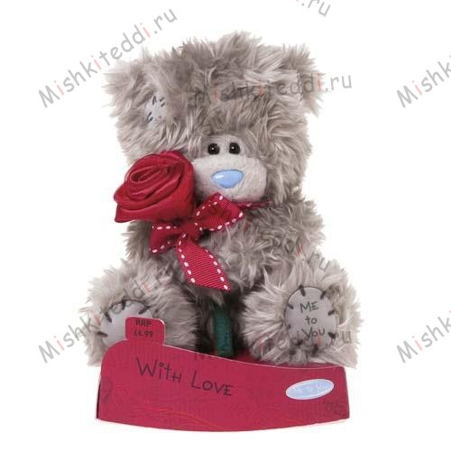 Мишка Тедди Me to You 10 см с розой With Love - With Love Holding Rose Me to You Bear G01W1914 13 With Love Holding Rose Me to You Bear