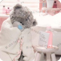 Tatty in Towel Birthday Me to You Bear Card