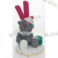 Me to You Bears-Figurine with Snow Ski and Boots 7in
