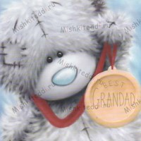 Best Grandad Medal Me to You Bear Fathers Day Card