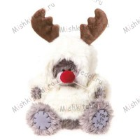 Мишка Тедди Me to You в костюме лося - Reindeer Jumper Me to You Bear G01W1923 52