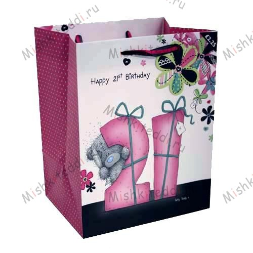 21st Birthday Medium Me to You Bear Gift Bag 21st Birthday Medium Me to You Bear Gift Bag