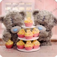 Teddies By Cake Stand Me to You Bear Card