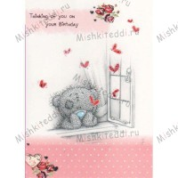 Thinking of You Birthday Me to You Bear Card