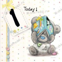 1st Birthday Me to You Bear Card