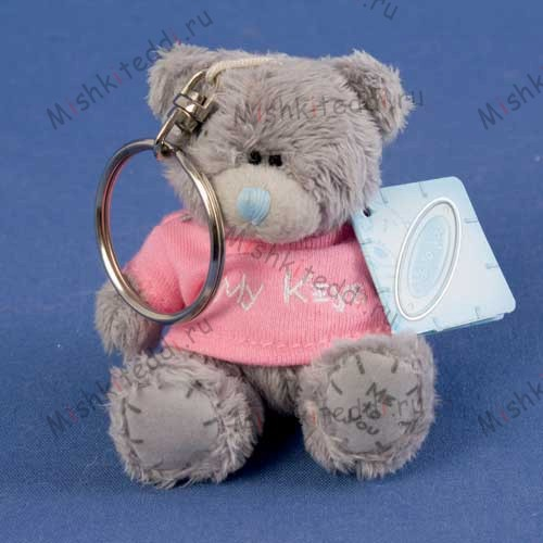 "Брелок мишка Тедди Me To You 7,5 см в розовой футболке  My Keys - 3"" Me to You Bear My Keys Keyring G01W0989 181 3"" Me to You Bear My Keys Keyring"