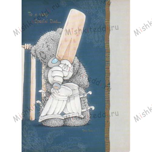 Dad Playing Cricket Me to You Bear Card Dad Playing Cricket Me to You Bear Card