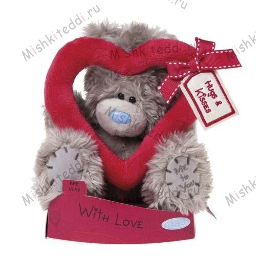 Мишка Тедди Me to You 15 см с сердцем Hugs and Kisses - Hugs and Kisses Heart Me to You Bear G01W1912 149 Hugs and Kisses Heart Me to You Bear