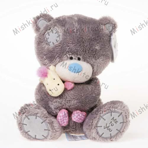 Мишка Тедди Me to You 20см с жирафом - Tiny Tatty Teddy Holding Giraffe Me to You Bear G92W0038 134 Tiny Tatty Teddy Holding Giraffe Me to You Bear
