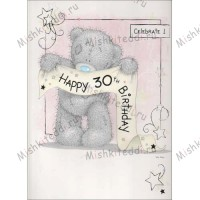 30th Birthday Banner Me to You Bear Card