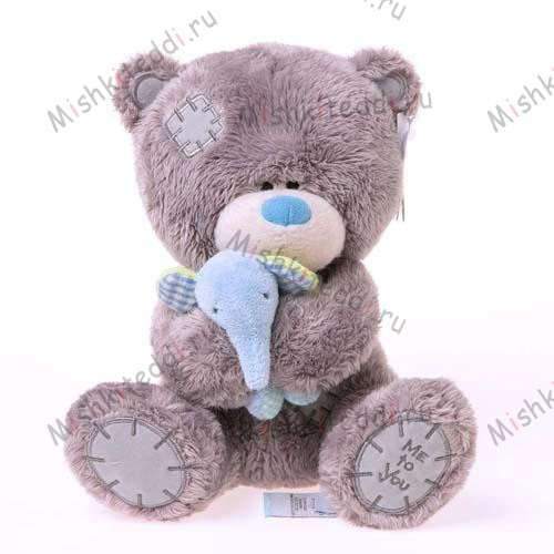Мишка Тедди Me to You 20см со слоником - Tiny Tatty Teddy Holding Elephant Me to You Bear G92W0051 130 Tiny Tatty Teddy Holding Elephant Me to You Bear