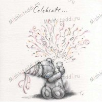 Celebrate Me to You Bear Sketchbook Card