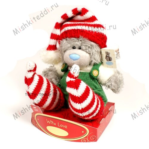 Мишка Тедди Me to You в зимнем костюмчике - Me To You Santas Helper Tatty Teddy Bear G01W0300 121 Me To You Santas Helper Tatty Teddy Bear