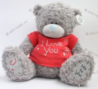 Мишка Тедди Me to you 45 см в красной футболке I Love You  - ME TO YOU TATTY TEDDY   35