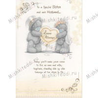To A Special Sister and Her Husband Me to You Bear Card