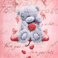 One I love Me to You Bear Card
