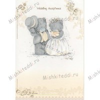 Wedding Acceptance Me to You Bear Card