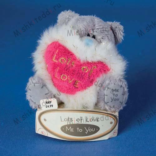 "Мишка Тедди Me To You  7,5 см держит сердце с опушкой Lots of Love - 3"" Lots of Love Me to You Bear G01W0553 128 3"" Lots of Love Me to You Bear"
