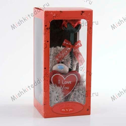 Мишка Тедди Me to You 15 см с сердцем и розой - Heart and Rose Me to You Bear G01W0504 188 Heart and Rose Me to You Bear