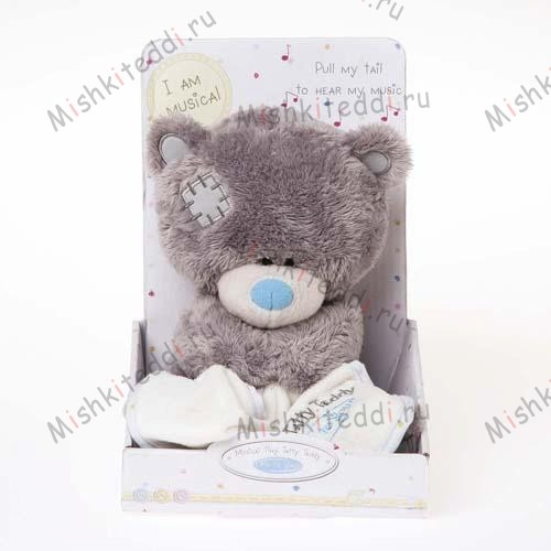 Мишка Тедди Me to You 20см музыкальный - Musical Tiny Tatty Teddy Holding Blanket Me to You Bear G92W0030 198 Musical Tiny Tatty Teddy Holding Blanket Me to You Bear