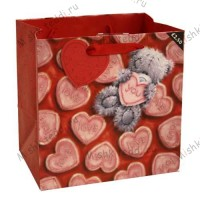 Medium Love Softly Drawn Me to You Bear Gift Bag