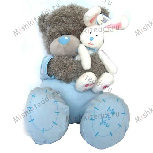 Мишка Тедди Me to You 30см малыш с зайцем - Me to You Bear In Babygrow (Boy) G01W0007 159 Me to You Bear In Babygrow (Boy)