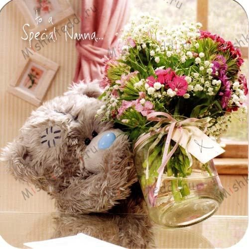 Nanna Flowers and Vase Mothers Day Me to You Bear Card Nanna Flowers and Vase Mothers Day Me to You Bear Card