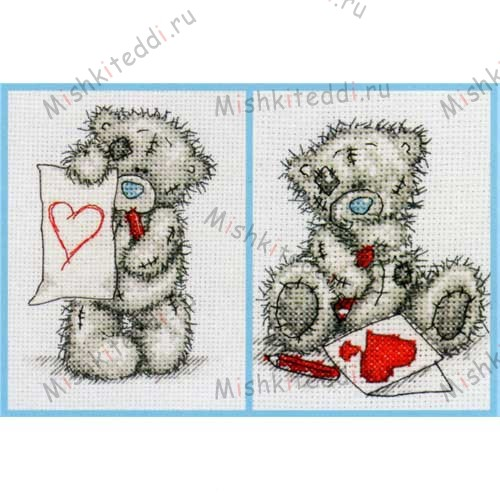 Card for You & Heart for You Me to You Bear Cross Stitch Kits (Double Pack) Card for You & Heart for You Me to You Bear Cross Stitch Kits (Double Pack)