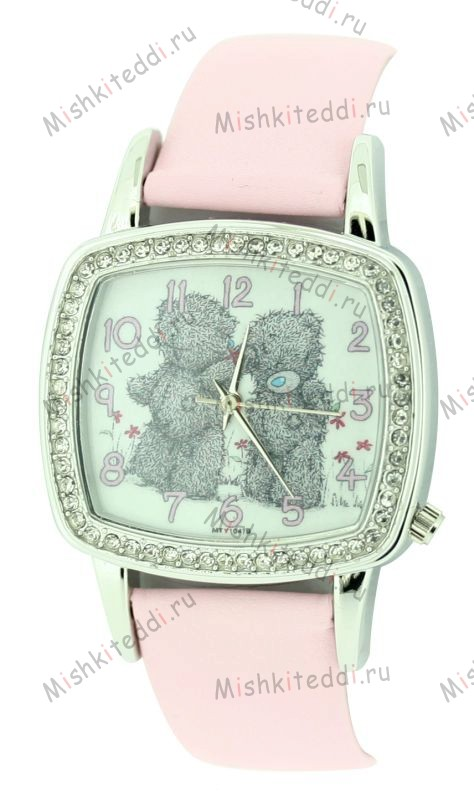 Часы Me to you - Два медвежонка Тедди - Two Teddies Standing Me to You Bear Watch Pink MTY104B 109 Two Teddies Standing Me to You Bear Watch Pink
