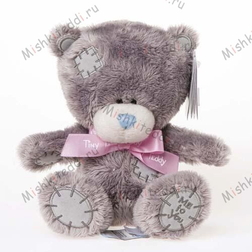 Мишка Тедди Me to you 15 см с розовой ленточкой - Tiny Tatty Teddy With Ribbon Me to You Bear Pink G92W0032 39 Tiny Tatty Teddy With Ribbon Me to You Bear Pink