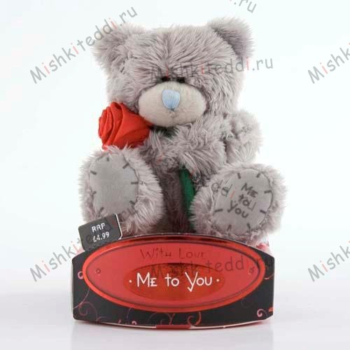 "Мишка Тедди Me To You  7,5 см с розой - 3"" Red Satin Rose Me to You Bear G01W0623 86 3"" Red Satin Rose Me to You Bear"
