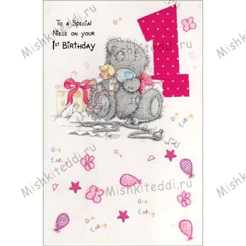 Neice 1st Birthday Me to You Bear Card Neice 1st Birthday Me to You Bear Card