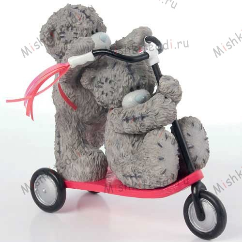 Scooting Around Me to You Bear Figurine Scooting Around Me to You Bear Figurine
