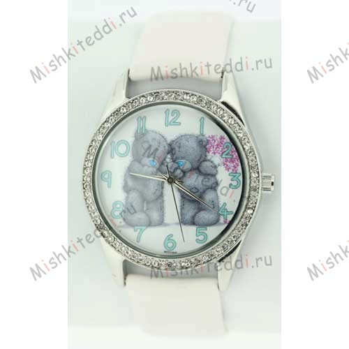 Часы Me to you- Два медвежонка Тедди - Two Teddies Standing Me to You Bear Watch White MTY110/C 125 Two Teddies Standing Me to You Bear Watch White