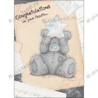 Congratulations on You Results Me to You Bear Card
