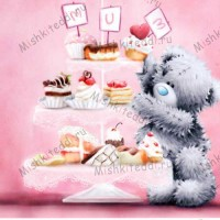 Tatty with Cake Tray Me to You Bear Mothers Day Card