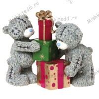 Double The Excitement Me to You Bear Figurine
