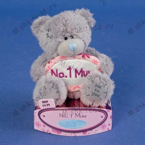 "Мишка Тедди Me To You  7,5 см  с табличкой No.1 Mum - 3"" No.1 Mum Banner Me to You Bear G01W0974 32 3"" No.1 Mum Banner Me to You Bear"