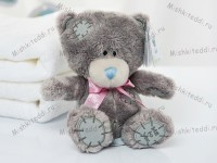 Мишка Тедди Me to You с голубой лентой 15 см - Tiny Tatty Teddy with blue ribbon G92W0032 29