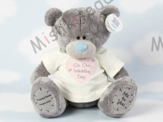 Мишка Тедди Me to You в футболке 31 см - Large Personalised Babysafe Tatty Teddy wearing a On Our Wedding Day T Shirt GYQ1152 125 Large Personalised Babysafe Tatty Teddy wearing a On Our Wedding Day T Shirt
