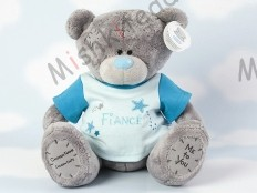 Мишка Тедди Me to You в футболке 31 см - Large Personalised Babysafe Tatty Teddy wearing a Fiance T Shirt GYQ0890 59 Large Personalised Babysafe Tatty Teddy wearing a Fiance T Shirt