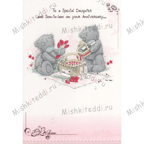 To A Special Daughter and Son-in-Law On Your Anniversary Me to You Bear Card To A Special Daughter and Son-in-Law On Your Anniversary Me to You Bear Card