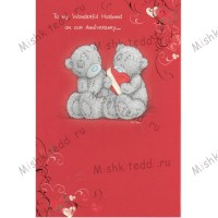To A Wonderful Husband on our nniversary Me to You Bear Card