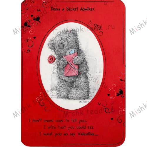 Secret Admirer Valentines Me to You Bear Card Secret Admirer Valentines Me to You Bear Card