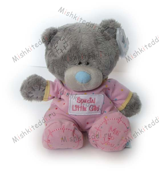 Мишка Тедди Me to you 20 см в розовых ползунках, сидит  -  ME TO YOU TATTY TEDDY 02_G92W0015 3 ME TO YOU TATTY TEDDY